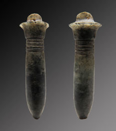 Egyptian crystal papyrus column amulet - 32 mm
