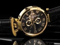 "Calvaneo 1583 Grande ""Venedi"" Luxury Gold Black Complication — men's watch NEW"