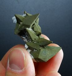 Pseudomorph Pyrite after Calcite with Palygorskite - 4.3 x 3.6 x 2,2cm - 21gm