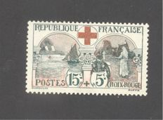 France 1918 - In aid of the Red Cross - signed Brun - Yvert 156