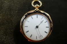 Women's enamelled pocket timepiece