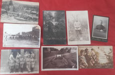lot cpa of old military/pictures, 2 cartridge holders