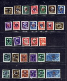 Italy 1940/1945, Occupation lot.