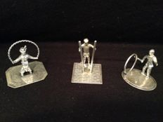 Silver miniatures, C.A. Stout, Rotterdam, 1979, Playing Children