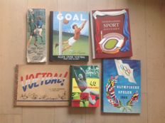 6 picture books, football and other sports 1945-1965