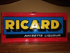 Rare RICARD metal advertising sign. Used. Early 1950s. France