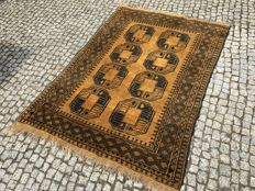 Unique GOLD Afgan Rug-205x135cm -hand knotted