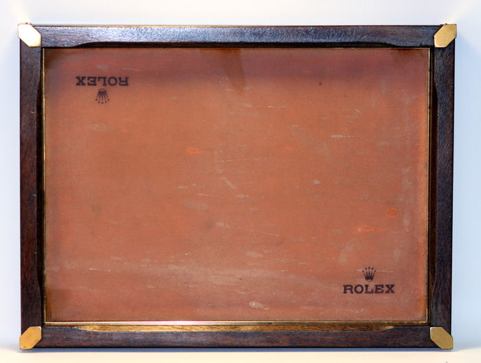 Vintage (1960's) Rolex Wooden and Cushioned Tray