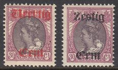 The Netherlands 1919 - Aid issue - NVPH 102/103