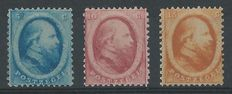 The Netherlands, 1864, King William III of the Netherlands, second emission, NVPH 4-6