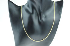 14 kt gold curb link necklace, solid link, length 55 cm