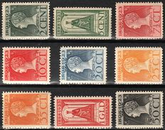 The Netherlands 1923 – Anniversary of the reign – NVPH 121 through 129