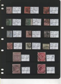 Great Britain 1856/1964 - Selection on 4 Stock Pages
