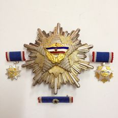 Former Socialist Republic of Yugoslavia - Order of the Flag. Grand Cross Award - 1st Class Massive Silver Made.