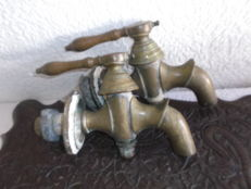 A set of large bronze faucets - France - 19th century