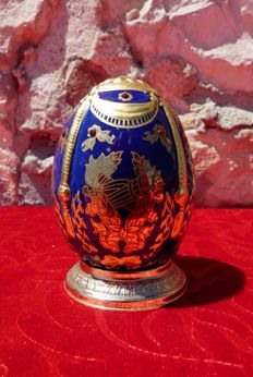 House of Fabergé - Collector egg  Heritage of The Czars' - porcelain - gold paint 22 k - (9.5 cm / 60 g)