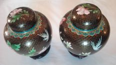 Pair of Cloisonné vases, China, late 20th century