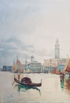 Unknown artist (19th - 20th century) - Venice (two artworks)