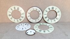 Collection of 5 enamel dials