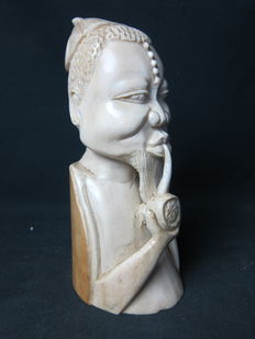 Antique African ivory bust - Colonial Mission Goods - Kasai - D.R. Congo