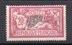 France 1925/26 - Merson type 20 f llilac-pink and greenish-blue - Yvert no. 208.