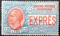 Italy, 1922 - 1.20 Lire express - Sassone n. 8 - Not issued.