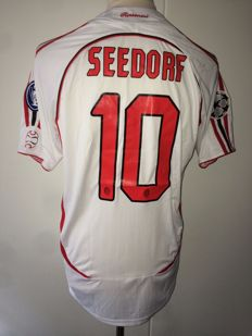 Clarence Seedorf / AC Milan - Champions League final shirt 2007; AC Milan vs Liverpool.