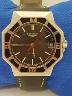 """Swiss watch for men, Longines """"Military"""" type, in a palladium alloy. From 1998-2006"""