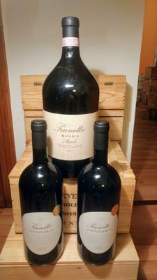 2001 Prunotto Bussia, Barolo (300CL) & 2004 Prunotto Centenario Langhe x 2 Magnums (150cl) - total 3 bottles