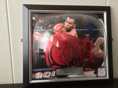 Mike Tyson - Signed and Framed (Tyson Tattoo) Boxing Glove in 3D frame + COA inc photoproof.