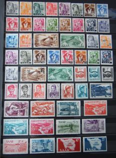 Saarland 1947/1959 – Collection on stock pages