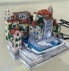 Miniature of Venetian palace, used as indoor fountain