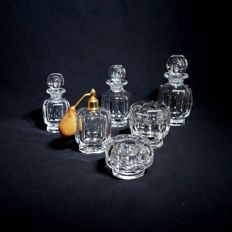 Baccarat - Toilet set in cut crystal, France, circa 1940