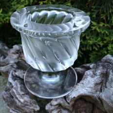 Lalique (France) - Crystal candle holder