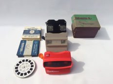 3 x Viewmaster with 34 slides