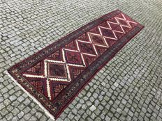Long and Unique Persian Hamadan Rug-305x82cm -hand knotted