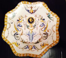 Gien ceramic - antique plate Patanazzi decoration