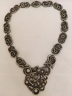 835 Silver choker – Kirkor Picakci – Amsterdam – 1970s – length 42 cm, weight 110.6 grams