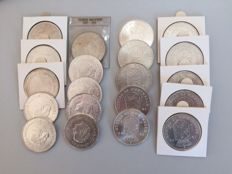 The Netherlands – 10 guilder coins 1970/1973, Juliana (20 pieces) – silver