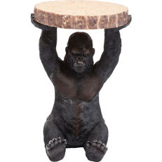 Gorilla table, the surface represents a deceptively realistic tree slice