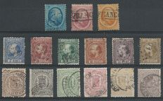 The Netherlands 1852/1871 - King Willem III and Crest Stamps - NVPH 4/6, 7/12, 13/18