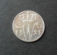 The Netherlands – 5 cents 1827U, Willem I – silver