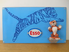 Metal advertising sign for Esso from 1980