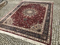 LIKE NEW LUXURY RUG hand knotted TABRIZ - 318x250 cm WITH SILK
