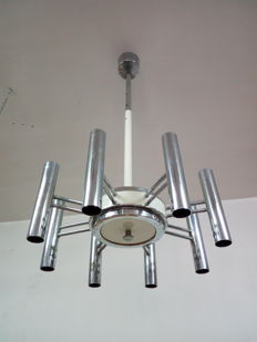 Unknown designer - vintage chandelier in Sciolari style