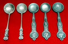 Russia - 5 spoons of the Emperors and Empresses of Russia