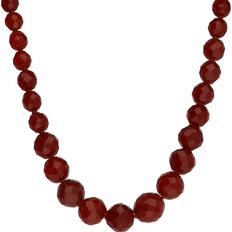 14 kt carnelian necklace set with gold clasp - length necklace approx. 49 cm