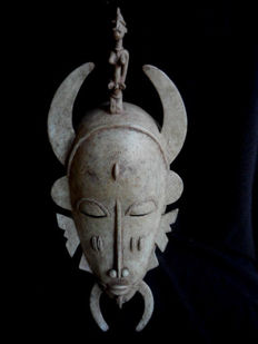 Bronze mask - SENUFO - Ivory Coast