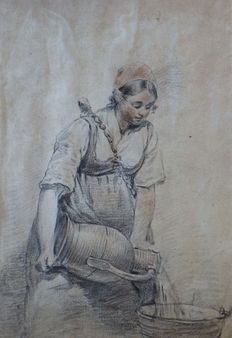 Unknown (19th century) - Woman with water jug