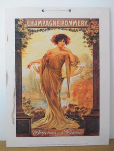 Advertising sign for Pommery Champagne from 2002